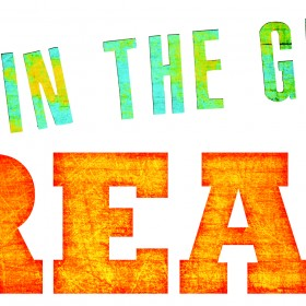 Get in the game read green and orange