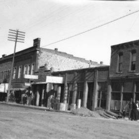 Historical image of 100 block of Main Street, Lewistown. Provided by historian Nancy Watts