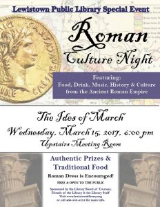 ROMAN CULTURE NIGHT PR