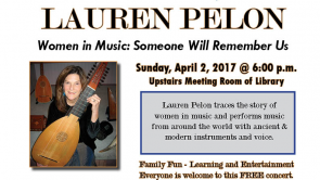 Lauren Pelon Concert  April 2