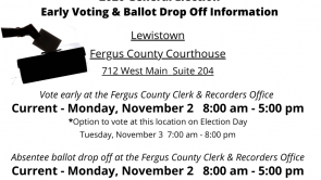 Early Voting & Ballot Drop Off Information