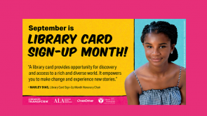Library Card Sign-Up Month by Kari Denison