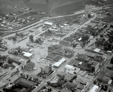 1964 Aerial View of Lewistown, Montana